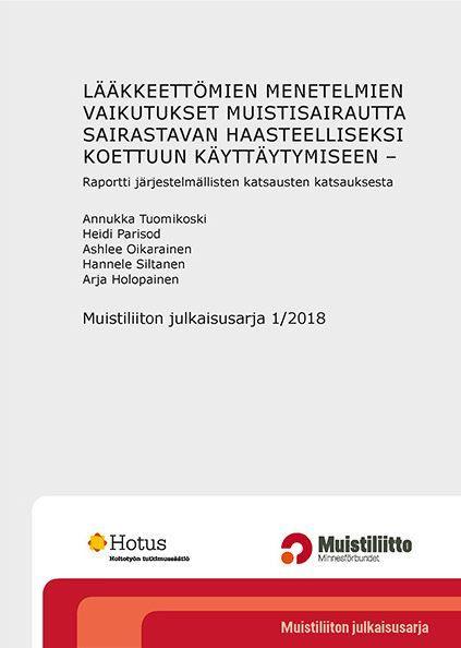 Muistiliiton julkaisusarja 1/2018